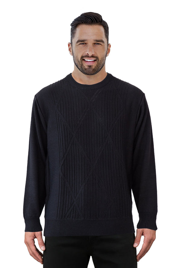 9422 Black - Tradewinds By Ansett Ansett Plain Knitwear