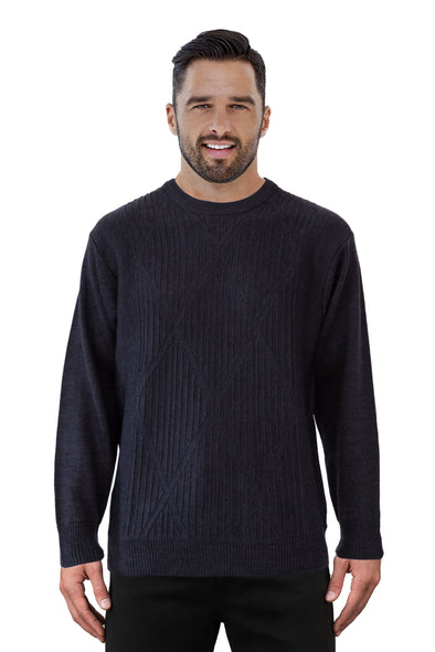 9422 Charcoal - Tradewinds By Ansett Ansett Plain Knitwear