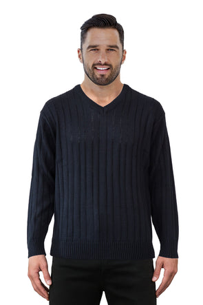 9497 Black - Tradewinds By Ansett Ansett Plain Knitwear