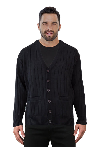 Black V Neck Cardigan - Tradewinds By Ansett