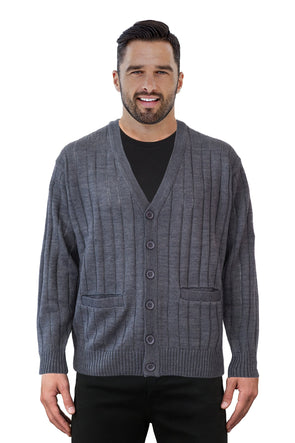 Grey V Neck Cardigan - Tradewinds By Ansett Ansett Plain Knitwear