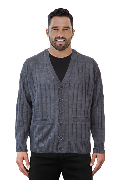 Grey V Neck Cardigan - Tradewinds By Ansett