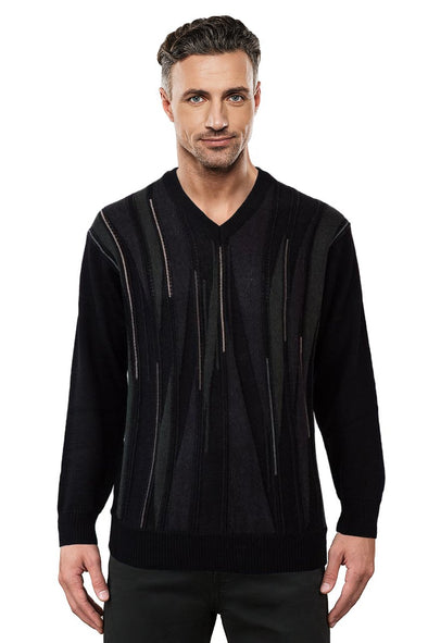 9573 Black V - Tradewinds By Ansett Ansett Plain Knitwear