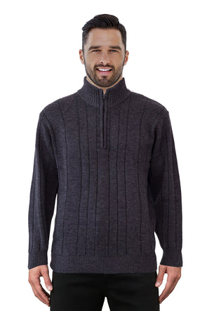 9905 Charcoal Half Zip - Tradewinds By Ansett Ansett Plain Knitwear