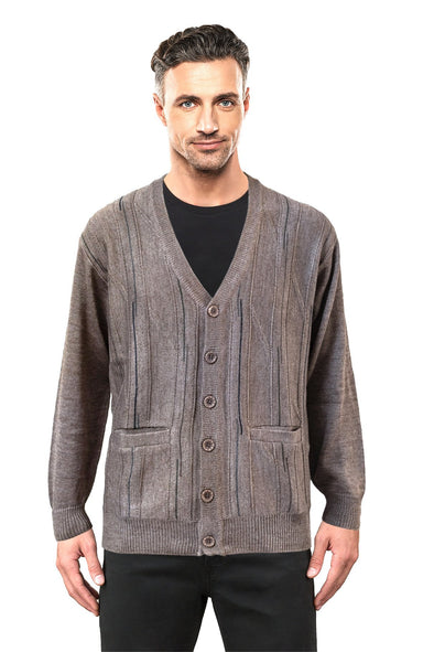 Bark V Neck Cardigan - Tradewinds By Ansett Ansett Plain Knitwear