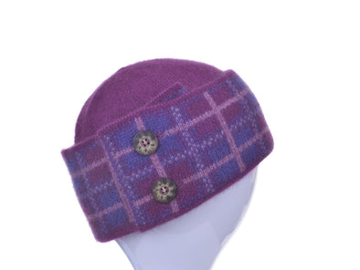 Berry Possum Merino Tartan Hat Possum Accessories