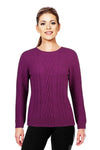 Berry - Possum Fur Crew Jumper Possum Merino