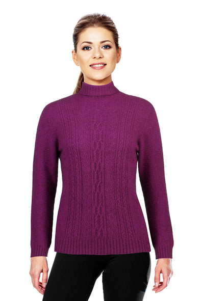 Berry - Possum Fur Polo Neck Jumper
