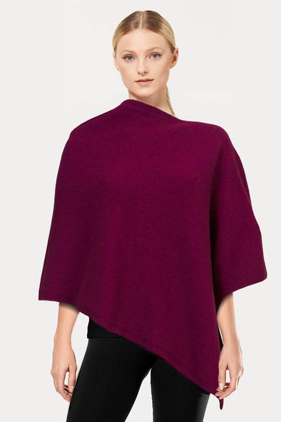 Berry Plain Possum Poncho