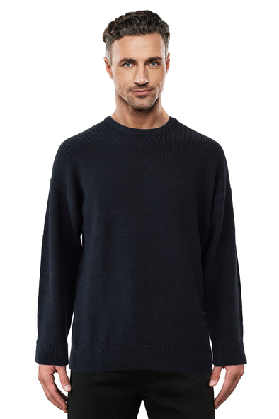 Black Fisherman Rib - Tradewinds By Ansett Ansett Plain Knitwear