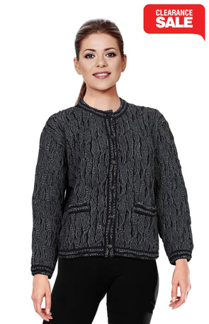 Wave - Black Crop Cardigan