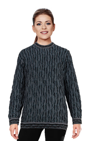 Wave - Black Sweater Geccu 3D Multi Colour
