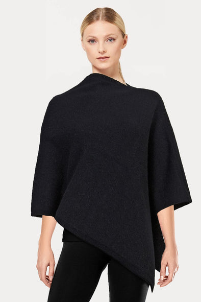 Black Plain Possum Poncho