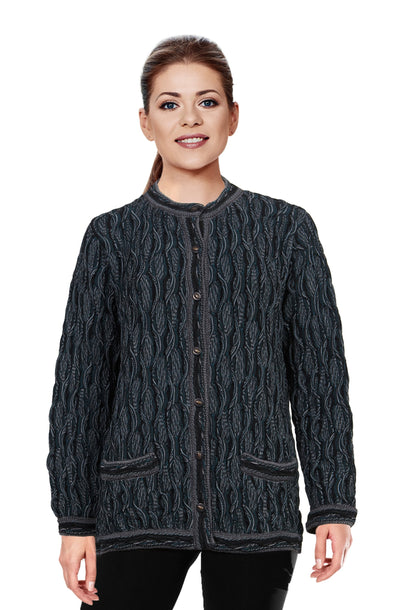 Wave - Black Ladies Long Cardigan
