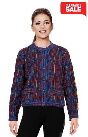 Wave - Bright Crop Cardigan