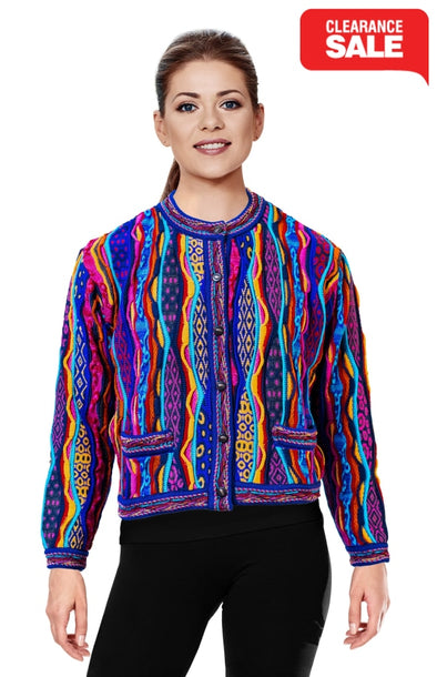 Force - Bright Crop Cardigan Geccu 3D Multi Colour