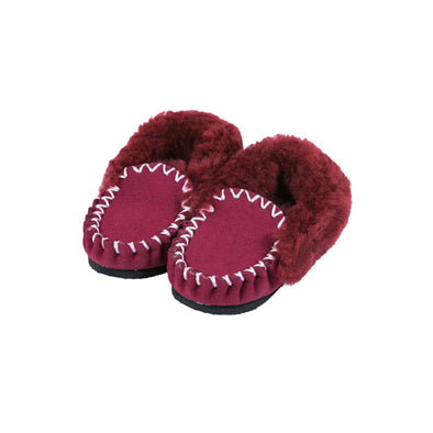 Ladies Burgundy Sheepskin Moccasins Ugg Boots