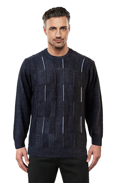 9252 Charcoal Crew - Tradewinds By Ansett Ansett Plain Knitwear