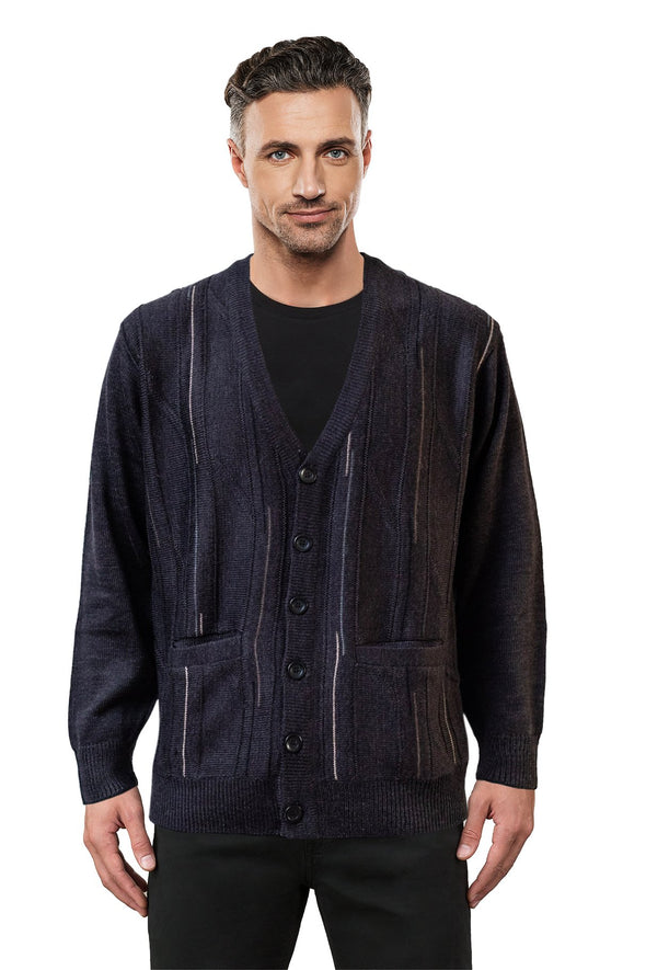 Charcoal V Neck Cardigan - Tradewinds By Ansett