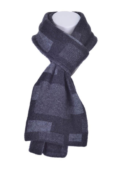 Charcoal Possum Merino Jacquard Scarf Possum Accessories