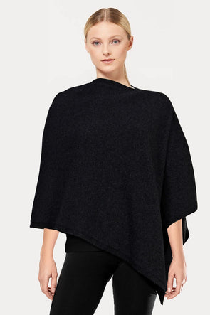 Charcoal Plain Possum Poncho