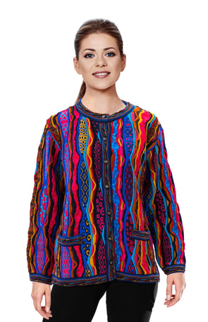 Force - Bright Ladies Long Cardigan Geccu 3D Multi Colour