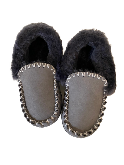 Mens Grey Sheepskin Moccasins Ugg Boots