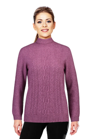 Heather - Possum Fur Polo Neck Jumper Possum Merino