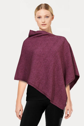Heather Self Pattern Possum Poncho