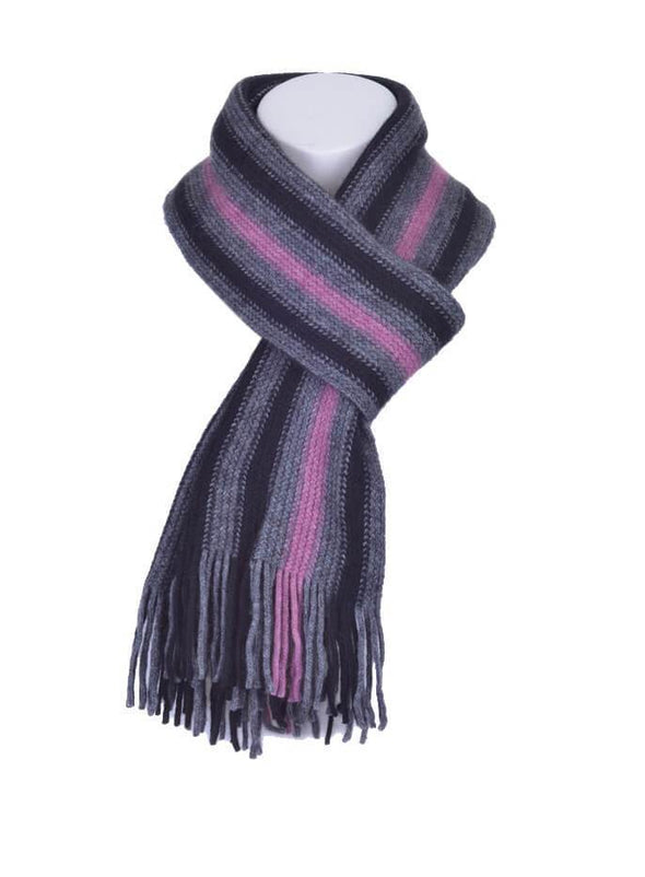 Heather Possum Merino Stripe Scarf Possum Accessories