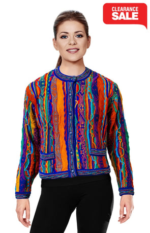 Kanga - Bright Crop Cardigan Geccu 3D Multi Colour