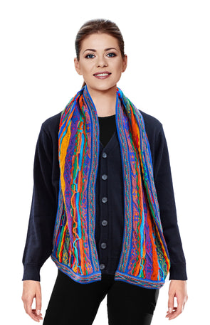 Kanga - Bright Scarf Geccu 3D Multi Colour