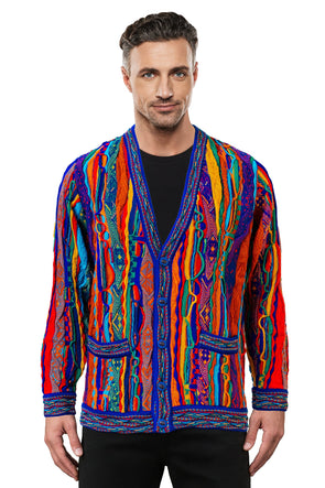 Kanga - Bright V Cardigan Geccu 3D Multi Colour
