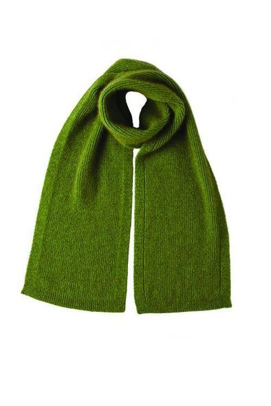 Lime Fine Rib Possum Fur Scarf