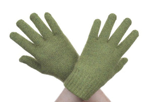 Lime Possum Fur Full Finger Gloves