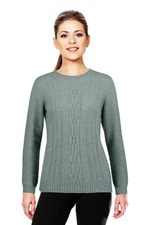 Mint - Possum Fur Crew Jumper Possum Merino