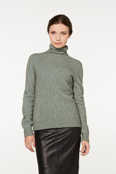 Mint - Possum Fur Polo Neck Jumper Possum Merino