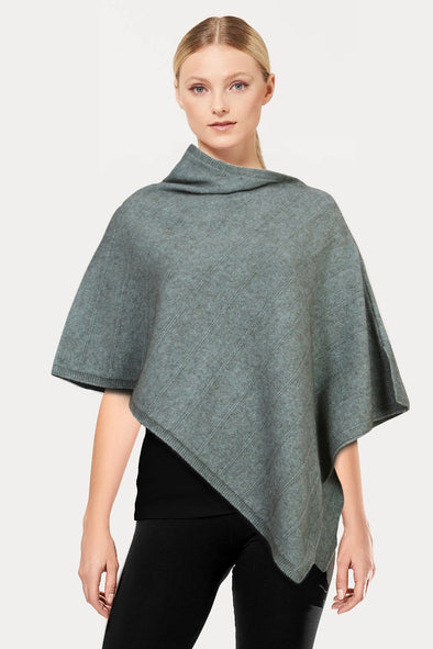 Mint Self Pattern Possum Poncho
