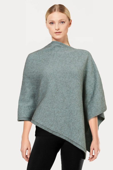 Mint Plain Possum Poncho