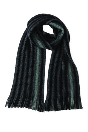 Mint Possum Merino Stripe Scarf