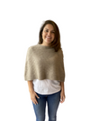 Mocha Float Stitch Poncho Possum Merino