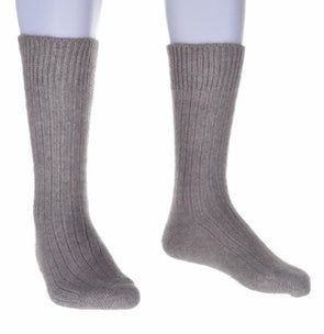 Mocha Merino Possum Rib Socks Possum Accessories