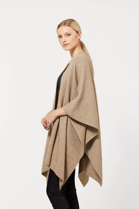 Possum Merino Cape With Button (3 Colours Available) Possum Merino