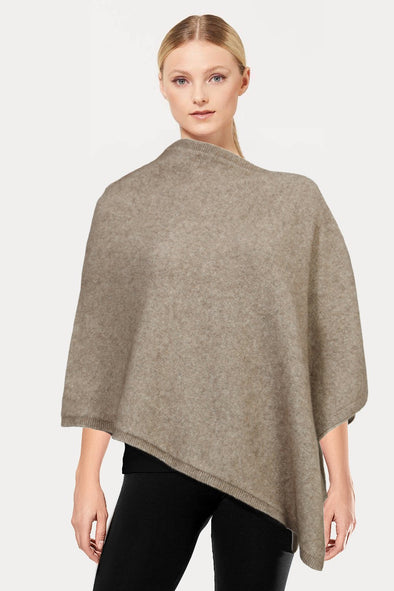 Mocha Plain Possum Poncho
