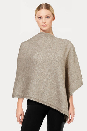 Mocha Self Pattern Possum Poncho