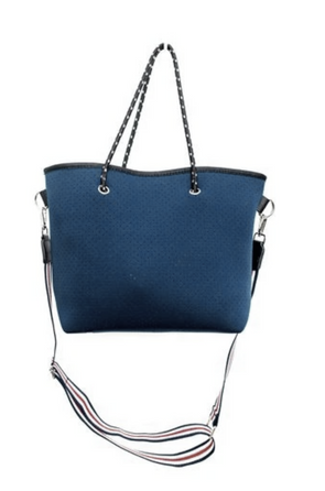 Navy Neoprene Mini Tote Bag