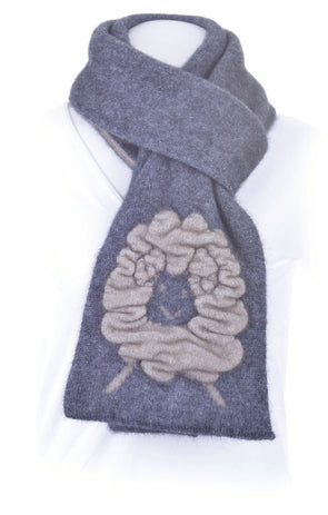 Pewter Possum Merino Sheep Scarf Possum Accessories
