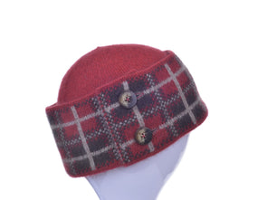 Red Possum Merino Tartan Hat