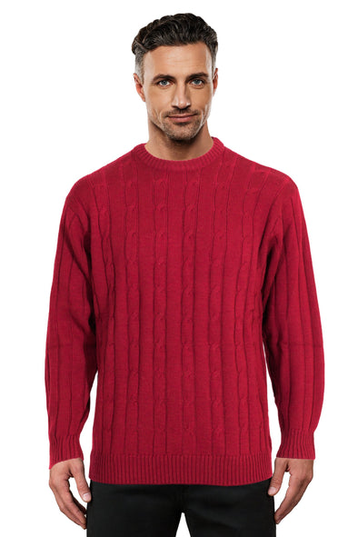 Cherry Cable Crew Neck Jumper