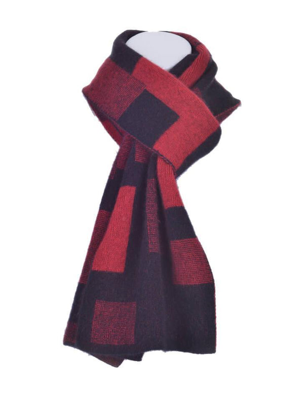 Red Possum Merino Jacquard Scarf Possum Accessories